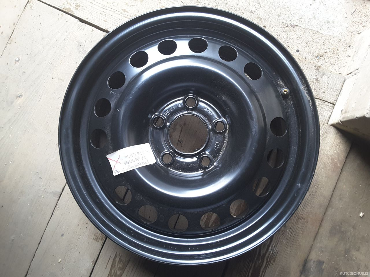 Opel steel stamped rims