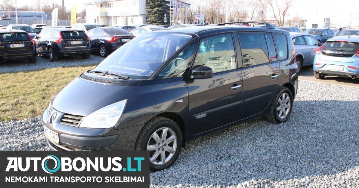 Renault Espace, 2.0 l., vienatūris, 2011 m. | 123239 | Autobonus.lt